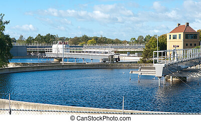 waste water treatment bassin - bassins of a waste water...