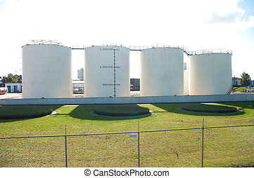 fuel tanks - four fuel tanks in a row