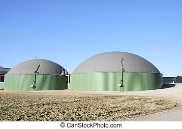 Biogas power plant - Renewable energy with biogas production