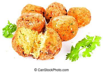 codfish balls - delicious portuguese food: bolinho de...
