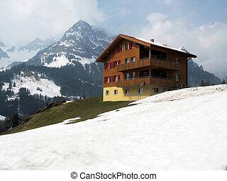 Spring in Engelberg, famous Swiss skiing resort