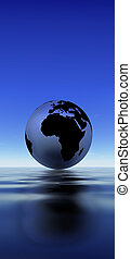 Earth reflection on water