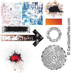 Collection - collection of isolated grunge textures, shapes...