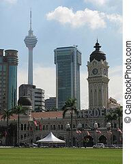 Dataran Merdeka Independence square in Kuala Lumpur,...