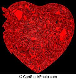 Broken crystal Heart: disease or pain - Broken crystal...
