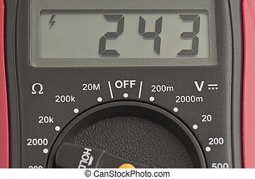 Digital multimeter - digital multimeter measures the voltage...