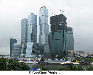 Business district of Moscow
