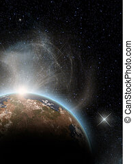 space - a Space scenario - Earth in the space