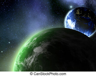space - a Space scenario - Planet in the space