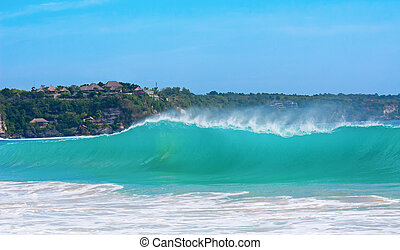"Ocean surf on the famous balinese ""Dreamland"" beach"