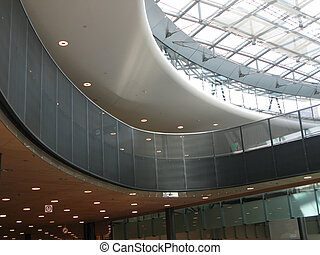 Interior of a modern shopping center