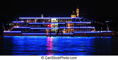 Cruiser ship by night