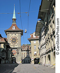 Famous Zytgloggeturm (1218) in Bern, Switzerland