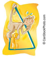 monkey with triangle gymnast