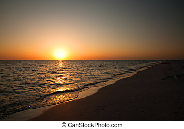 Sunset on Marco Island - Sunset at Tigertail beach, Marco...