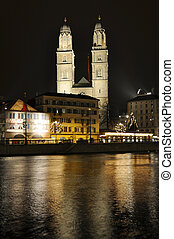 Grossmuenster church in Zurich