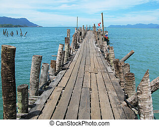 Pathway to the sea. Langkawi, Malaysia
