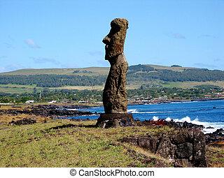 Ahu Tahai Moais of Easter Island