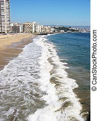 Pacific coast of Vina del Mar, Chile