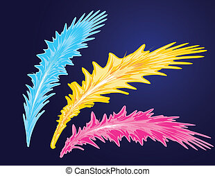 Abstract feather set