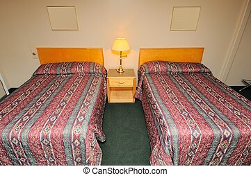 Typical hotel bedroom