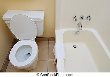 Bright and white washroom