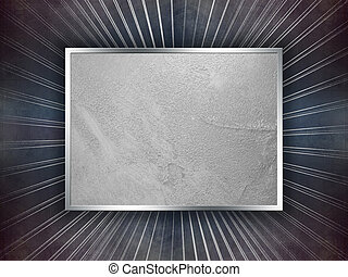 Grunge blue and silver background