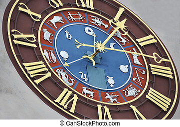 Ancient zodiacal clock
