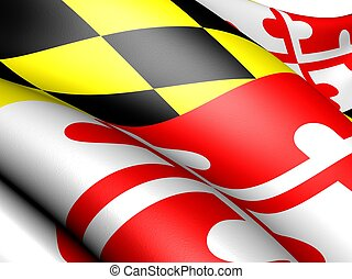 Flag of Maryland, USA. Close up.