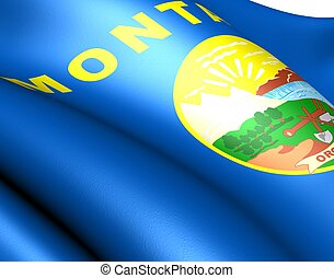 Flag of Montana, USA Close up