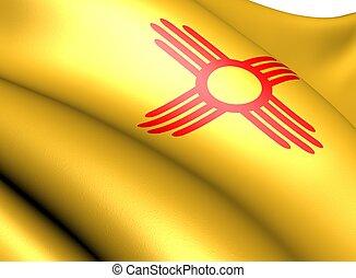 Flag of New Mexico, USA. Close up.