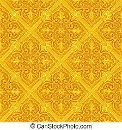 3d seamless golden decoration