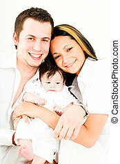 Family - A young happy family with their 4 month old son.......