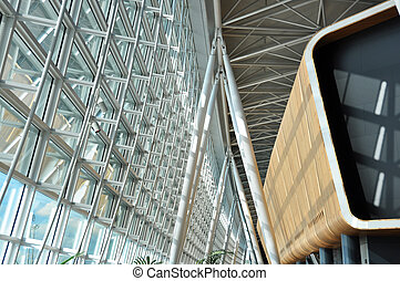 Interior of a modern airport