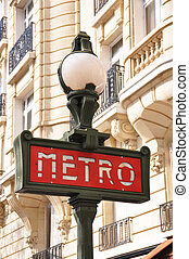 Retro Metro sign in Paris