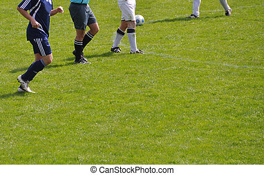 Footballers on the field