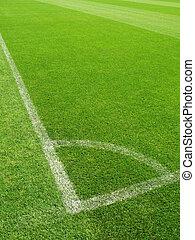Corner of a soccer field