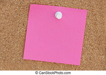 pink post it note