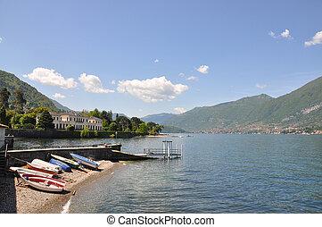 Bellagio town at the famous Italian Lake Como