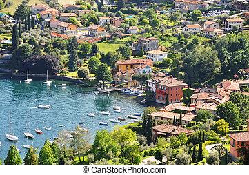 Famous Italian lake Como from Villa Serbelloni