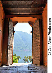 View to the lake Como, Italy