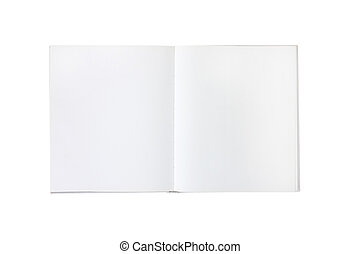 blank empty white book or brochure - blank empty spreads of...