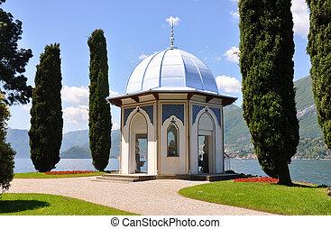alcove, Alpes, arquitetura, bellagio, azul, cidade, costa,...