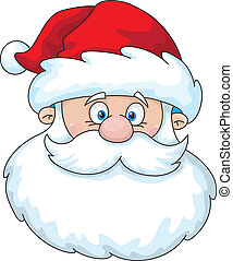 Santa head - Illustration of a Santa head