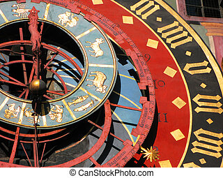 Famous Zytglogge zodiacal clock in Bern, Switzerland