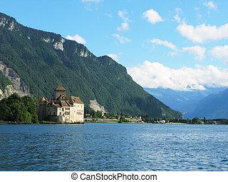 Chillon castle in Montreux, Switzerland