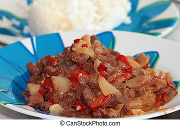 beef with coconut milk