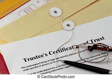 confiança, certificado