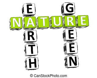 3D Nature Earth Green Crossword