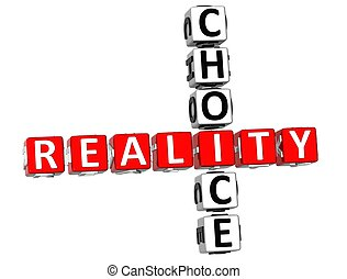 3D Reality Choice Crossword on white background